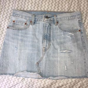 NWOT Levi's Destructed Jean skirt
